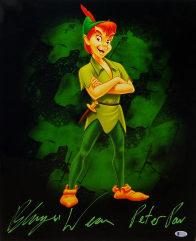 Blayne Weaver Autographed Peter Pan 16x20 Photo- Beckett Authenticated *Green