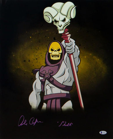 Alan Oppenheimer Autographed Skeletor 16x20 Photo- Beckett Auth *Purple