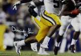 Derrius Guice Autographed LSU Tigers 16x20 Running- JSA W Auth *White