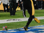 Antonio Brown Autographed Steelers 16x20 TD Catch Backview PF Photo- JSA W Auth