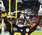 Antonio Brown Autographed Steelers 8x10 Pointing PF Photo- JSA W Auth *White