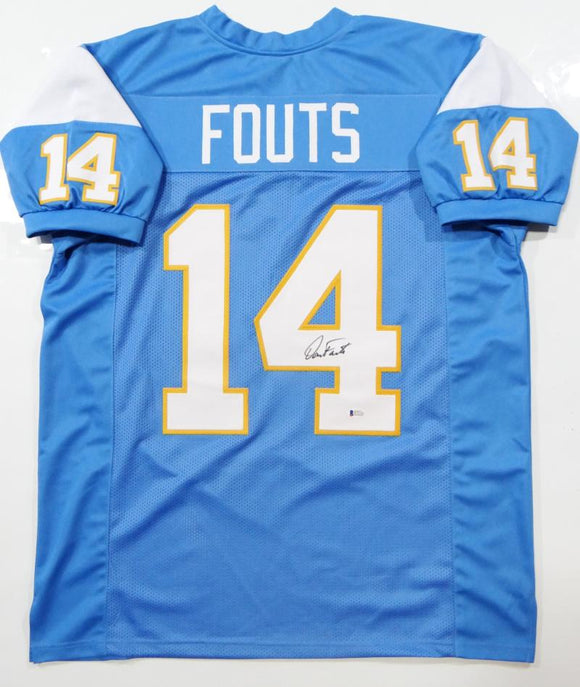 Dan Fouts Autographed Powder Blue Pro Style Jersey- Beckett Authenticated *4