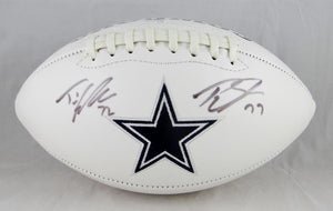 T. Smith/T. Frederick Autographed Dallas Cowboys Logo Football- JSA W Authenticated