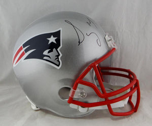 Sony Michel Autographed New England Patriots F/S Helmet - JSA-W Auth *Black