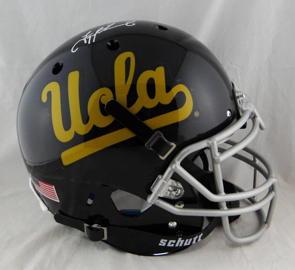 Troy Aikman Autographed UCLA F/S Authentic Schutt Black Helmet - Beckett Auth *White