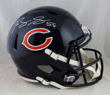 Roquan Smith Autographed Chicago Bears F/S Speed Helmet- Beckett Auth *White