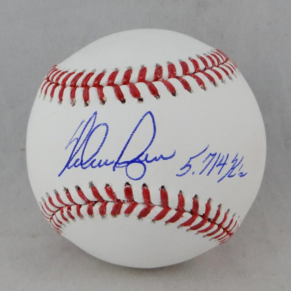 Nolan Ryan Autographed Rawlings OML Baseball w/ 5,714 K's Leader - Beckett Auth