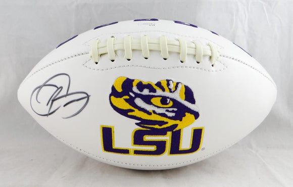 Odell Beckham Autographed LSU Tigers Logo Football- JSA Authenticated *Tiger Eye