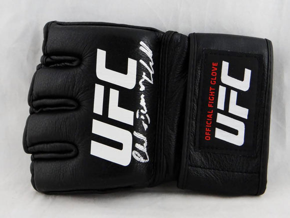 Chuck Liddell Autographed UFC Official Fight Glove with Iceman - Beckett Authentic *Silver