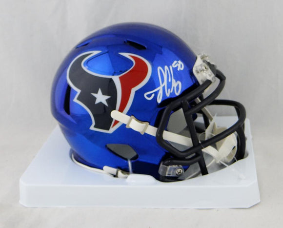 Jadeveon Clowney Autographed Houston Texans Chrome Mini Helmet- JSA W Auth *White