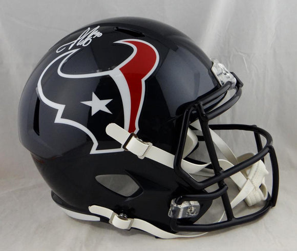 Jadeveon Clowney Autographed Houston Texans Full Size Speed Helmet-JSA Witnessed Auth *White
