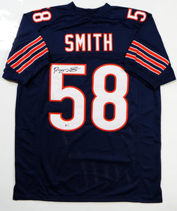Roquan Smith Autographed Blue Pro Style Jersey- Beckett Authenticated