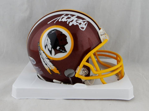 Adrian Peterson Autographed Washington Redskins Mini Helmet - Beckett Auth *White
