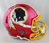 Alex Smith Autographed Washington Redskins F/S Chrome Helmet - Beckett Auth *White