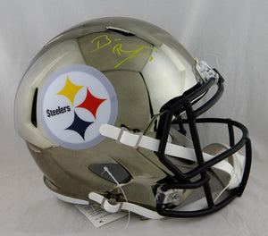 Ben Roethlisberger Autographed Pittsburgh Steelers F/S Chrome Helmet - Fanatic Auth *Yellow