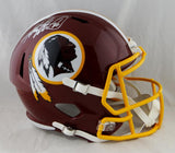 Adrian Peterson Autographed Washington Redskins F/S Speed Helmet- Beckett Auth *Silver