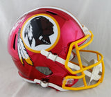 Adrian Peterson Autographed Washington Redskins F/S Chrome Helmet- Beckett Auth *White