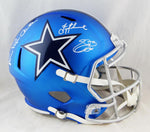 Aikman, E. Smith, Irvin Signed Cowboys F/S Blaze Helmet - Beckett/Prova Auth *White