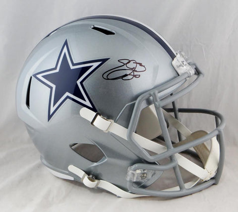 Emmitt Smith Autographed F/S Dallas Cowboys Speed Helmet- Beckett Auth *Black