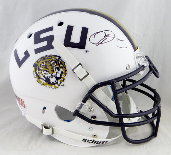 Odell Beckham Autographed LSU Tigers F/S White Authentic Schutt Helmet- JSA W Auth
