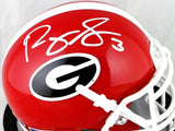 Roquan Smith Autographed Georgia Bulldogs Schutt Mini Helmet- Beckett Auth *White