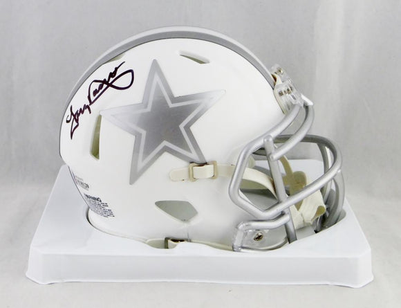 Tony Dorsett Signed Dallas Cowboys ICE Mini Helmet- Beckett Auth *Black