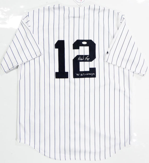 Wade Boggs Autographed New York Yankees P/S Majestic Jersey W/ WS Champs- JSA W Auth *Split-2