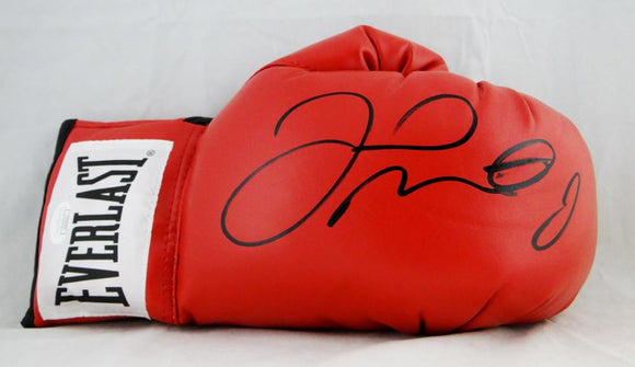 Floyd Mayweather Autographed Everlast Red Boxing Glove - JSA CC Authentication