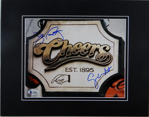 Wendt & Ratzenberger Autographed Matted 8x10 Cheers Sign - Beckett Auth *Black
