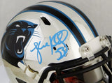 Luke Kuechly Autographed Carolina Panthers Chrome Speed Mini Helmet- JSA W Auth *Silver