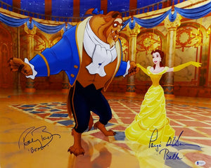 Robby Benson & Paige O'Hara Autographed 16x20 Beauty And The Beast Poster-Beckett Auth