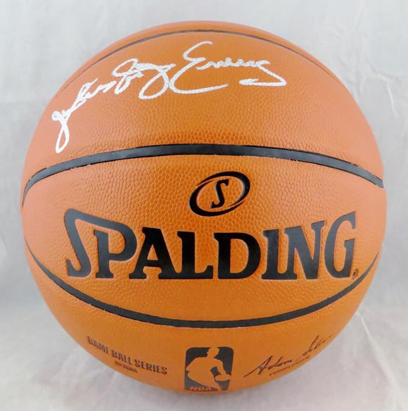Julius Erving Autographed NBA Spalding Basketball- Beckett Authenticated *Silver