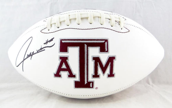 Trayveon Williams Autographed Texas A&M Aggies Logo Football- JSA Witnessed Auth