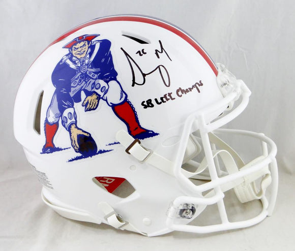 Sony Michel Signed SB Champs Patriots F/S Speed Authentic 65-81 TB Helmet-Beckett Auth