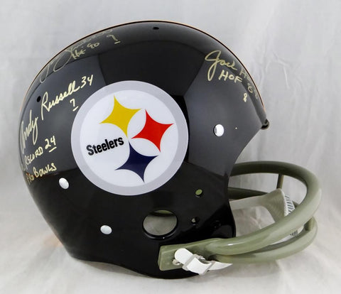 Ham Lambert Russell Autographed Pittsburgh Steelers F/S 63-76 ProLine Helmet- JSA W Auth *Gold