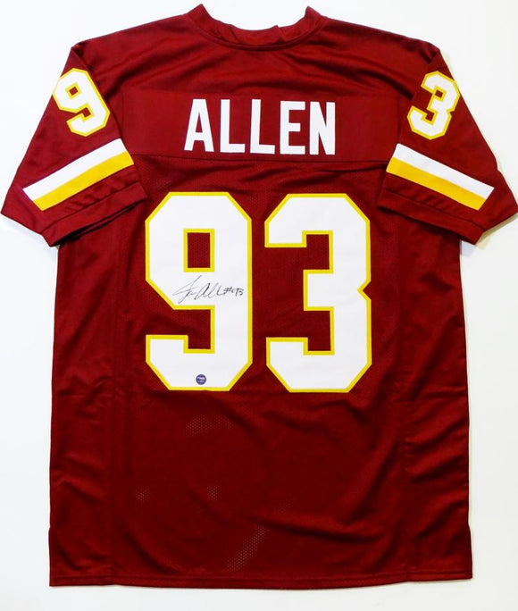 Jonathan Allen Autographed Maroon Pro Style Jersey- Prova Authenticated