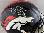 Champ Bailey Autographed Denver Broncos F/S Speed Authentic Helmet w/ HOF- JSA W Auth *White