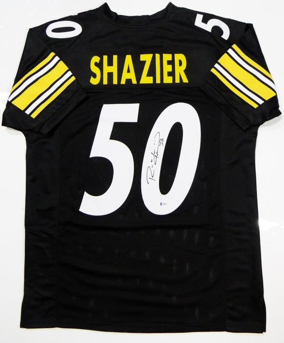 Ryan Shazier Autographed Black Pro Style Jersey- Beckett Auth