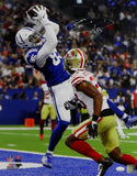 Eric Ebron Autographed Indianapolis Colts 16x20 Catching TD PF Photo- JSA W Auth *White