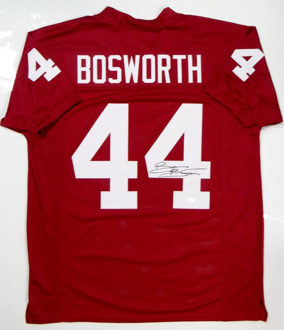 Brian Bosworth Autographed Maroon College Style Jersey- JSA Witnessed Auth *R4
