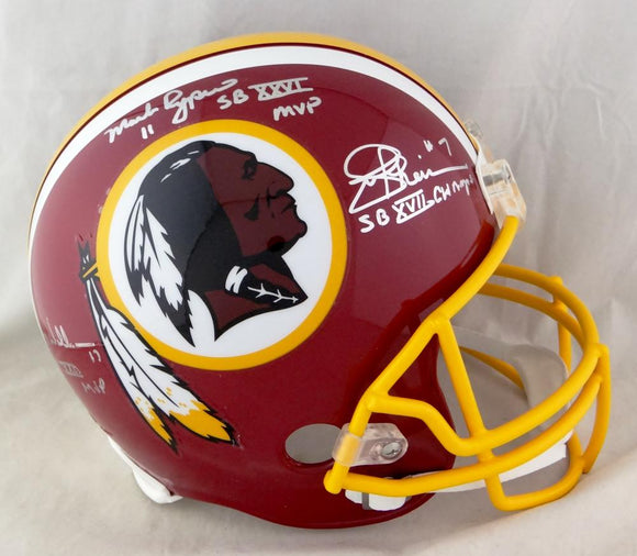 Rypien, Theismann, Williams Signed Washington Redskins F/S 78-03 TB Helmet w/ Insc- JSA W Auth *W Back