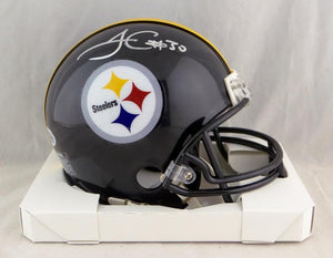 James Conner Autographed Pittsburgh Steelers Mini Helmet- Beckett W Auth *Silver