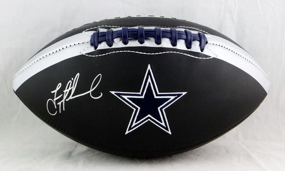 Troy Aikman Autographed Dallas Cowboys Black Logo Football- Beckett Auth *Silver