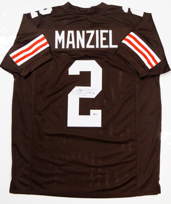 Johnny Manziel Autographed Brown Pro Style Jersey- Beckett Authenticated *2