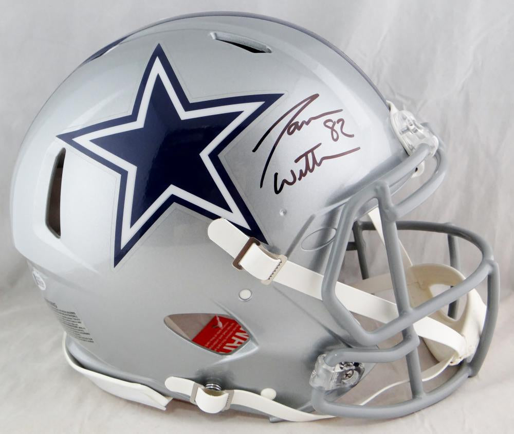 half off b8b52 788eb Jason Witten Autographed Dallas Cowboys F/S Speed Authentic Helmet- Beckett  Auth *Black