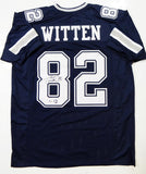 Jason Witten Autographed Blue Pro Style Jersey - Beckett Auth *8