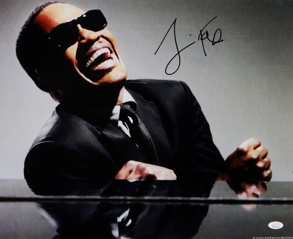 Jamie Foxx Autographed Ray 16x20 Photo - JSA W Auth *Black