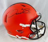 Odell Beckham Full Name Signed Browns F/S Speed Authentic Helmet- JSA W Auth *Blk