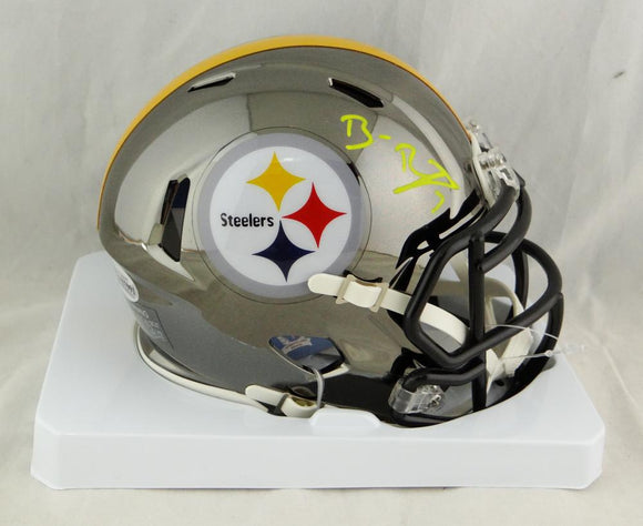 Ben Roethlisberger Autographed Pittsburgh Steelers Chrome Mini Helmet- Beckett Auth *Yellow