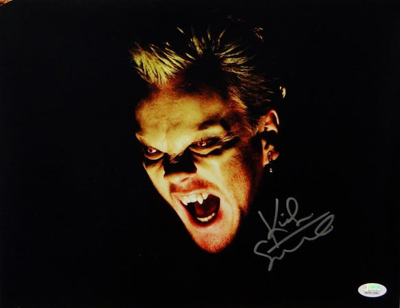 Kiefer Sutherland Autographed 11x14 The Lost Boys Close Up Photo - JSA W Auth *Silver